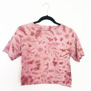 Chemistry Tie Dye Pink Crop Top